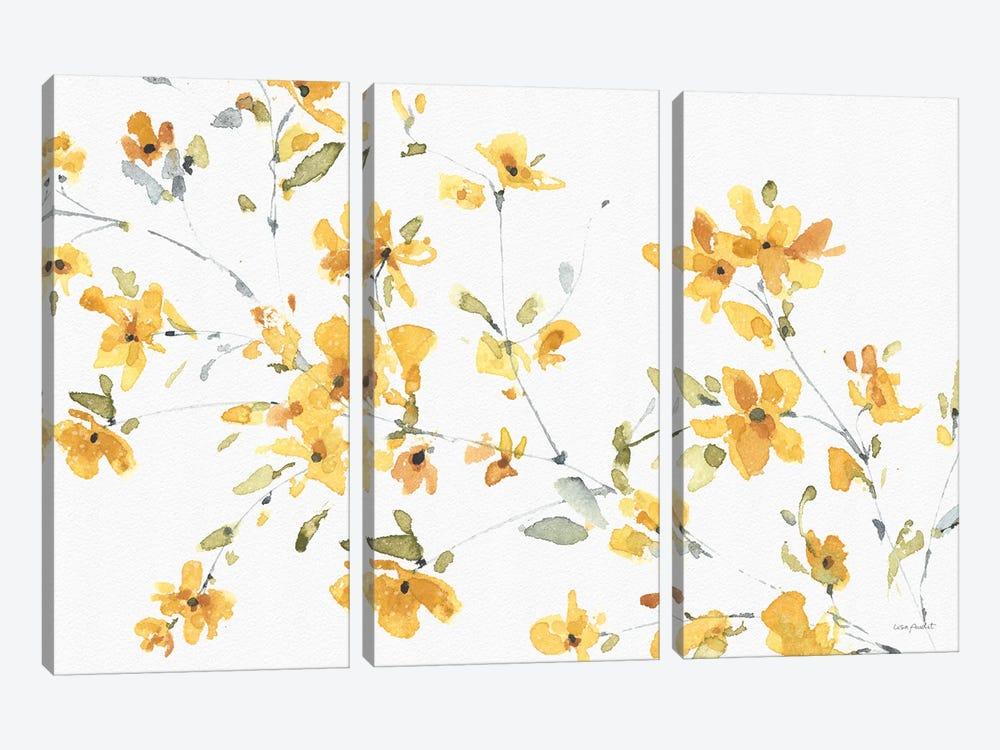 Happy Yellow IIIA by Lisa Audit 3-piece Canvas Artwork