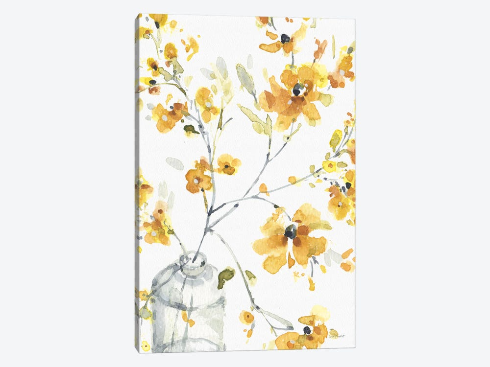 Happy Yellow VIA by Lisa Audit 1-piece Canvas Print