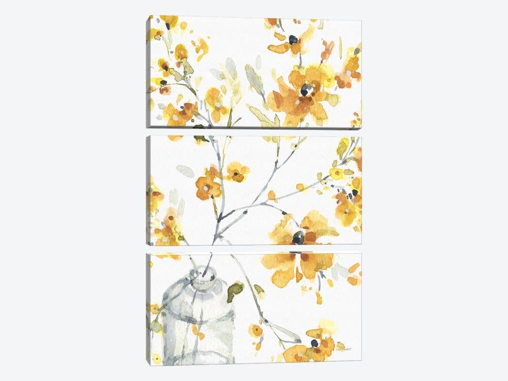 Happy Yellow VIA by Lisa Audit 3-piece Art Print