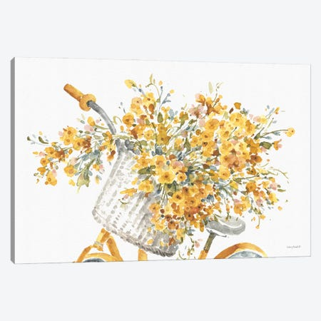 Happy Yellow VIIA 3-Piece Canvas #UDI208} by Lisa Audit Canvas Art Print