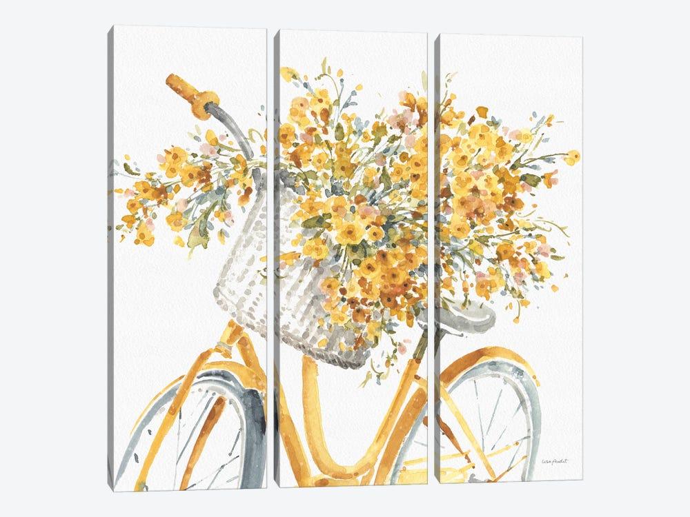 Happy Yellow VIIB by Lisa Audit 3-piece Canvas Art Print