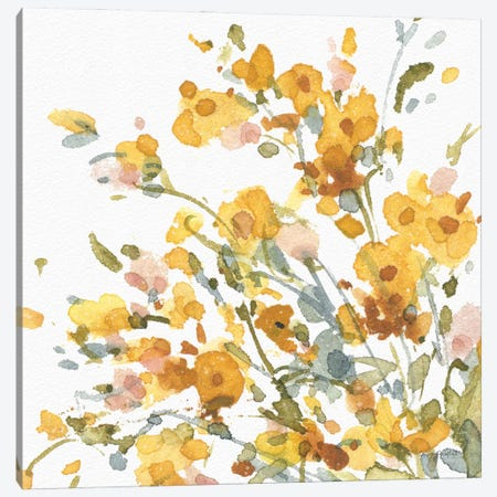 Happy Yellow IXA Canvas Print #UDI211} by Lisa Audit Canvas Wall Art