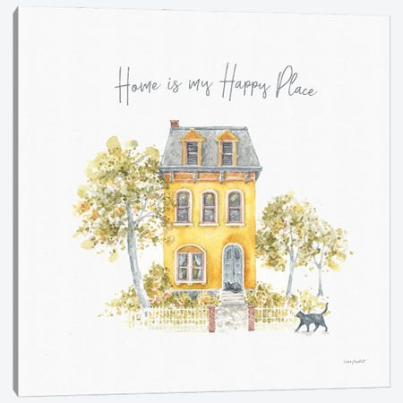 Happy Yellow XVIIA Canvas Print #UDI222} by Lisa Audit Canvas Art Print