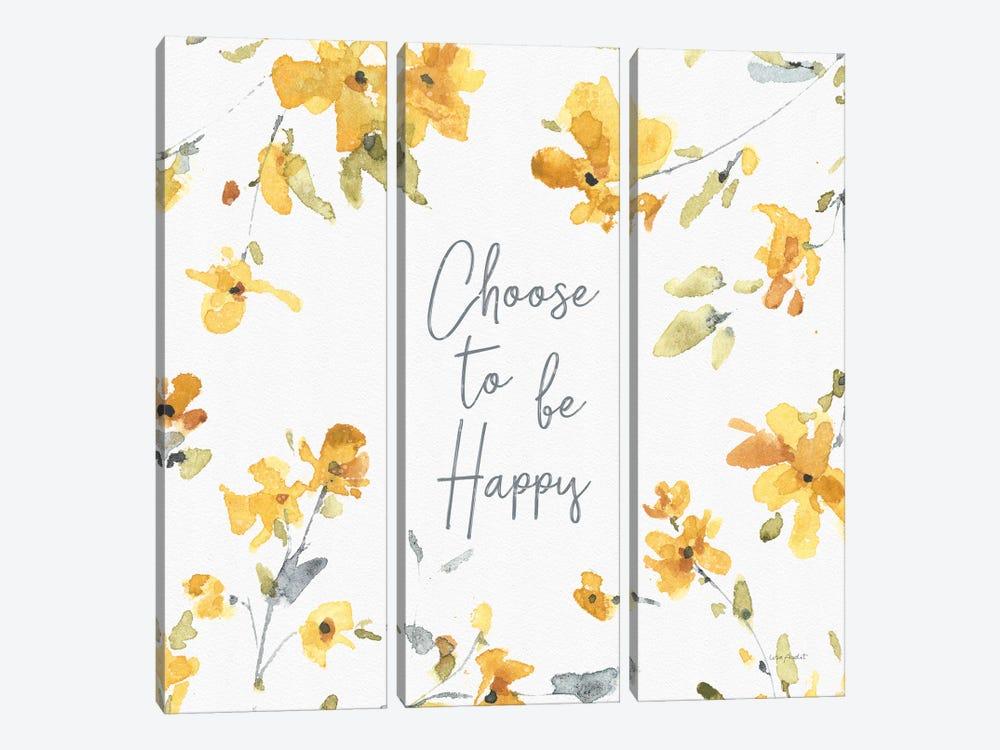 Happy Yellow XXA by Lisa Audit 3-piece Canvas Print