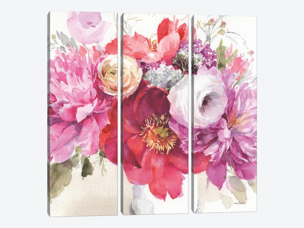 Obviously Pink IB by Lisa Audit 3-piece Canvas Print