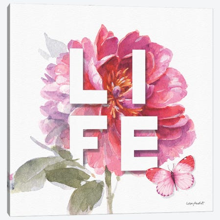 Obviously Pink VIA Canvas Print #UDI250} by Lisa Audit Canvas Art