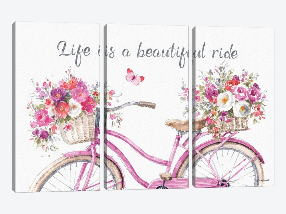 Obviously Pink XIIIA by Lisa Audit 3-piece Canvas Wall Art