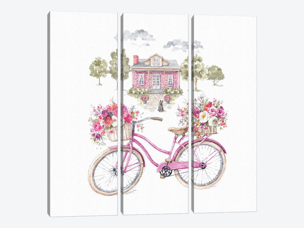 Obviously Pink XVIA by Lisa Audit 3-piece Canvas Artwork