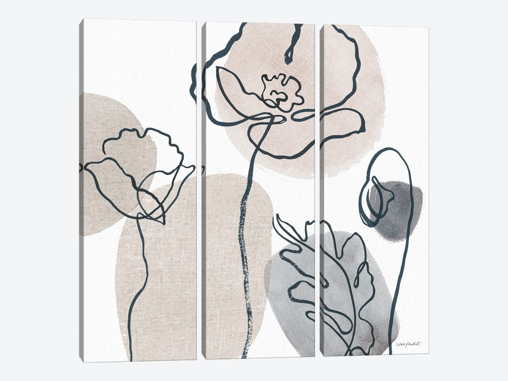 Think Neutral IIA by Lisa Audit 3-piece Canvas Wall Art