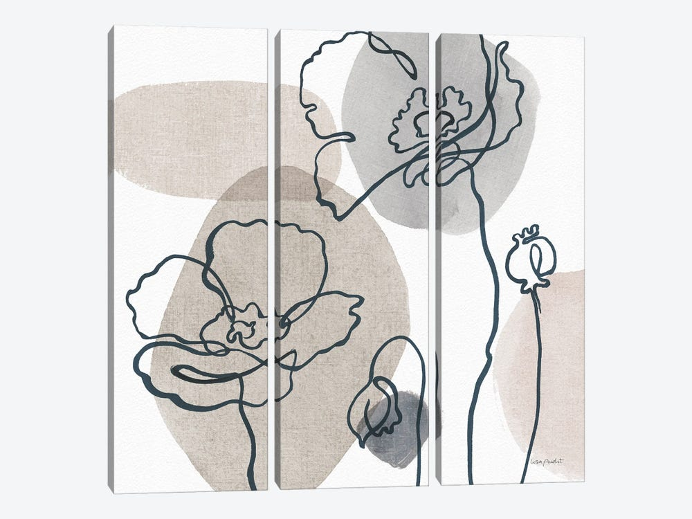Think Neutral IIIA by Lisa Audit 3-piece Canvas Print