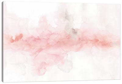 Rainbow Seeds Abstract Blush Gray Crop Canvas Art Print