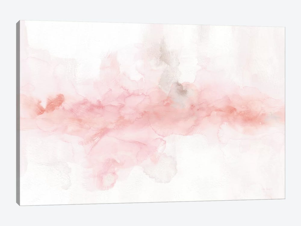 Rainbow Seeds Abstract Blush Gray Crop by Lisa Audit 1-piece Canvas Artwork