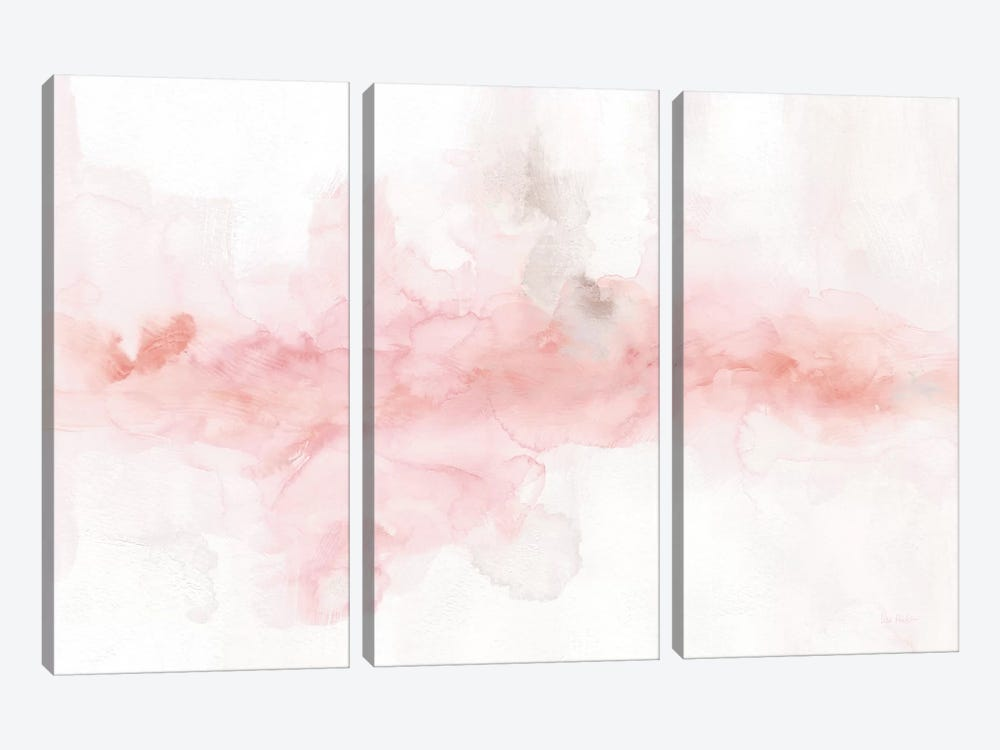 Rainbow Seeds Abstract Blush Gray Crop by Lisa Audit 3-piece Canvas Wall Art