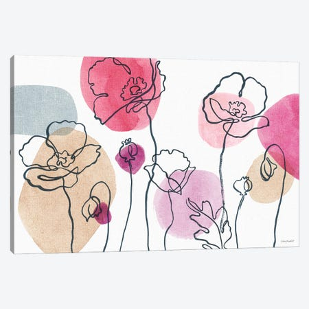 Think Pink IA Canvas Print #UDI282} by Lisa Audit Canvas Art Print