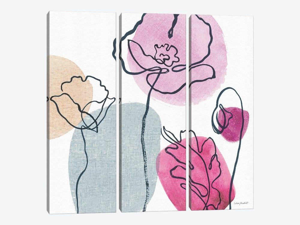 Think Pink IIA by Lisa Audit 3-piece Canvas Print