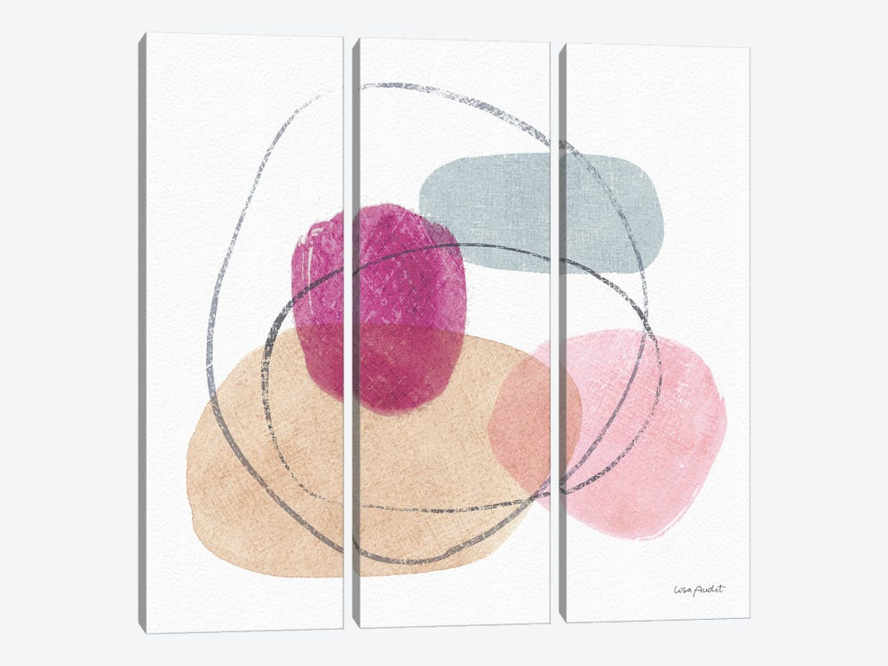Think Pink VIIA by Lisa Audit 3-piece Canvas Art