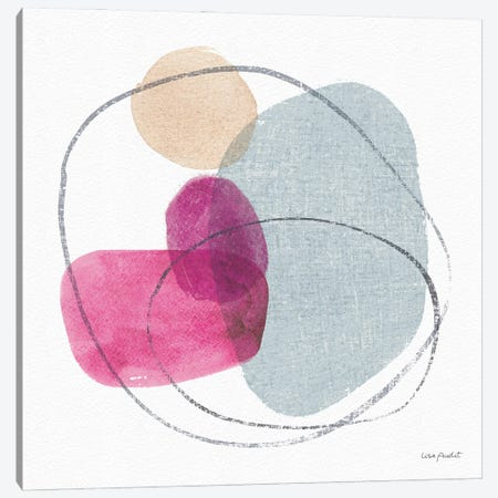 Think Pink VIIIA Canvas Print #UDI289} by Lisa Audit Canvas Print