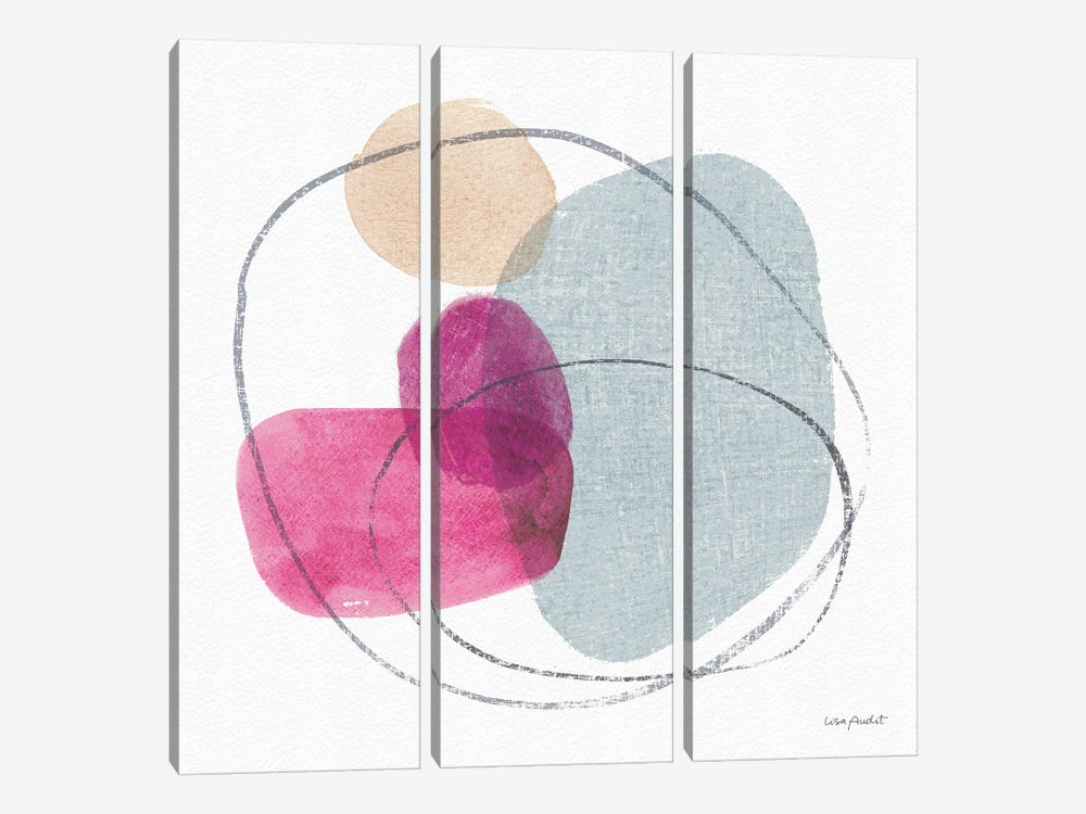 Think Pink VIIIA by Lisa Audit 3-piece Canvas Print