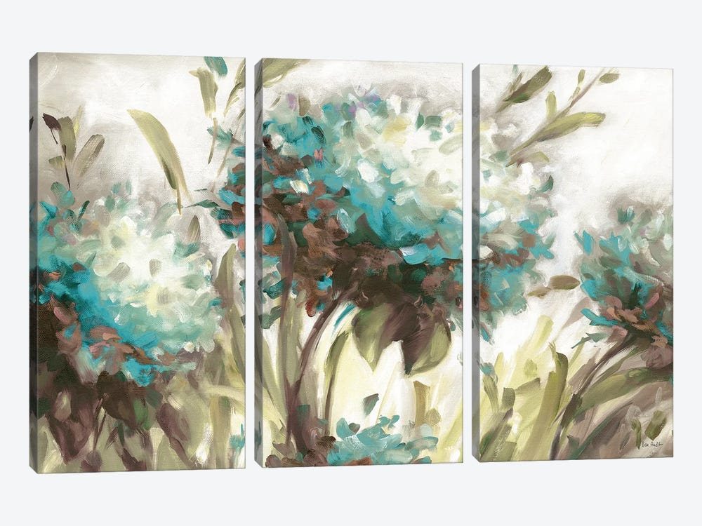 Hydrangea Field Neutral by Lisa Audit 3-piece Art Print