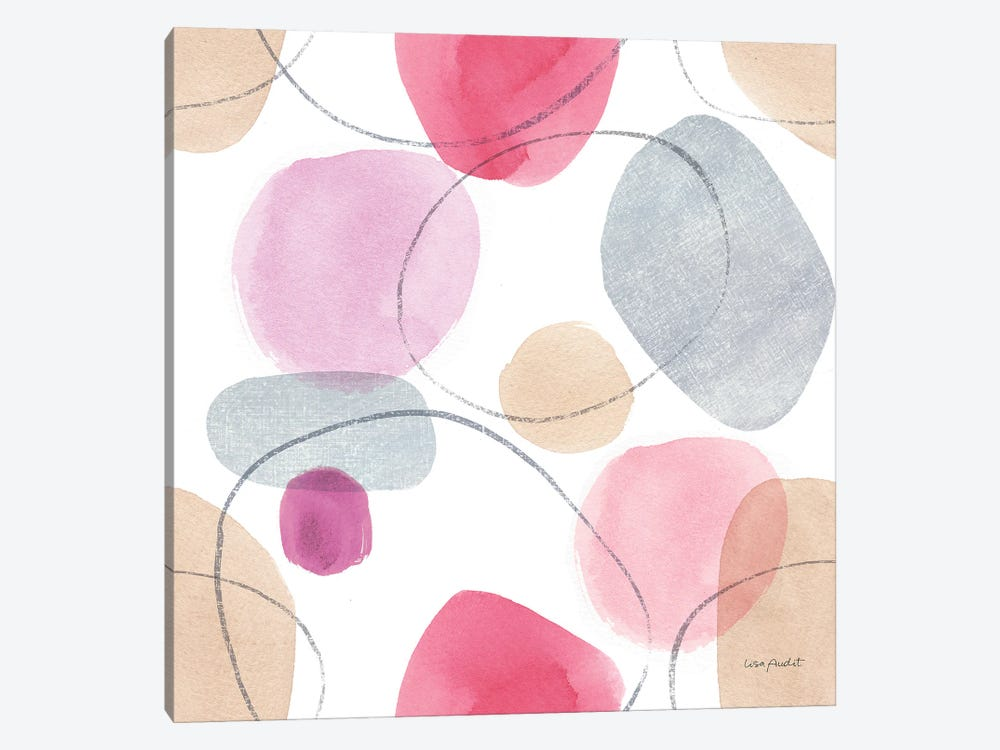 Think Pink XIVA by Lisa Audit 1-piece Canvas Wall Art