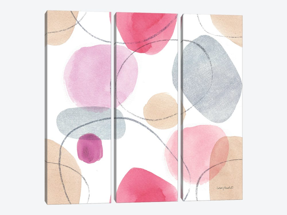 Think Pink XIVA by Lisa Audit 3-piece Canvas Wall Art