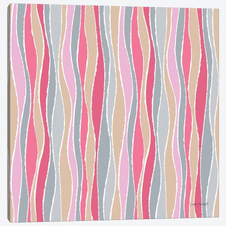 Think Pink XVIA Canvas Print #UDI296} by Lisa Audit Art Print