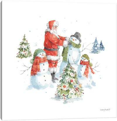 Welcoming Santa VI Canvas Art Print