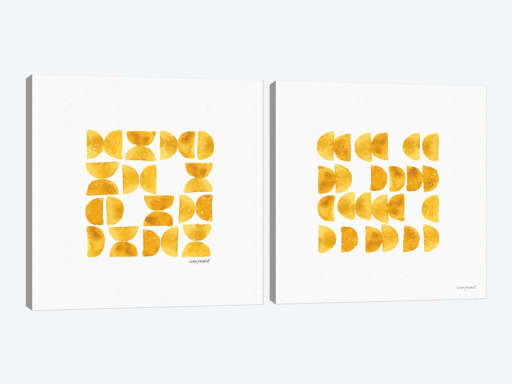 Happy Yellow Diptych by Lisa Audit 2-piece Canvas Print