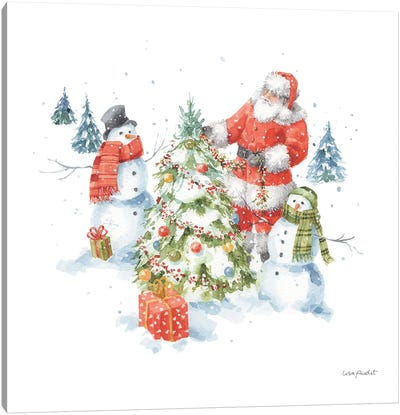 Welcoming Santa VIII Canvas Art Print