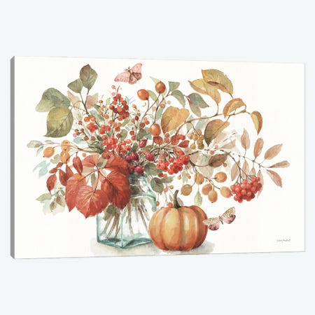 Autumn In Nature I On White Canvas Print #UDI302} by Lisa Audit Canvas Art