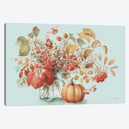 Autumn In Nature I On Aqua Canvas Print #UDI303} by Lisa Audit Canvas Artwork