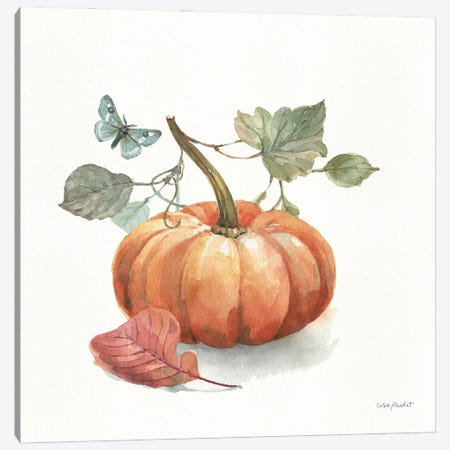 Autumn In Nature IV On White 3-Piece Canvas #UDI308} by Lisa Audit Canvas Art