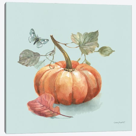 Autumn In Nature IV On Aqua Canvas Print #UDI309} by Lisa Audit Canvas Artwork