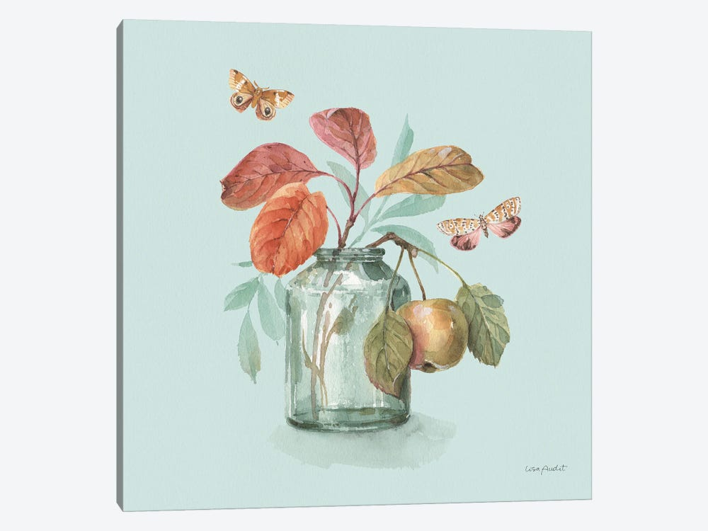 Autumn In Nature V On Aqua by Lisa Audit 1-piece Art Print