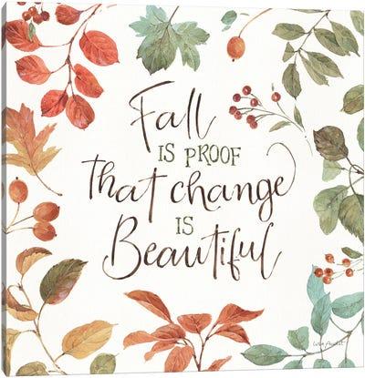 Autumn In Nature VII On White Canvas Art Print