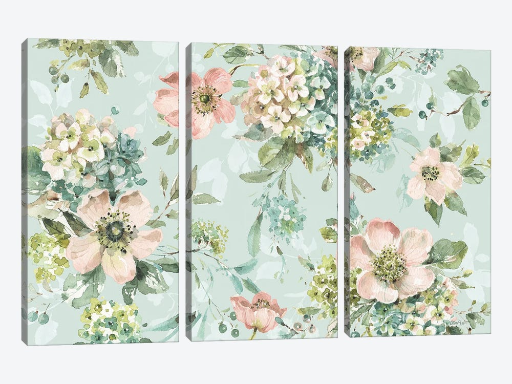 Mint Crush XII On Mint by Lisa Audit 3-piece Canvas Art Print