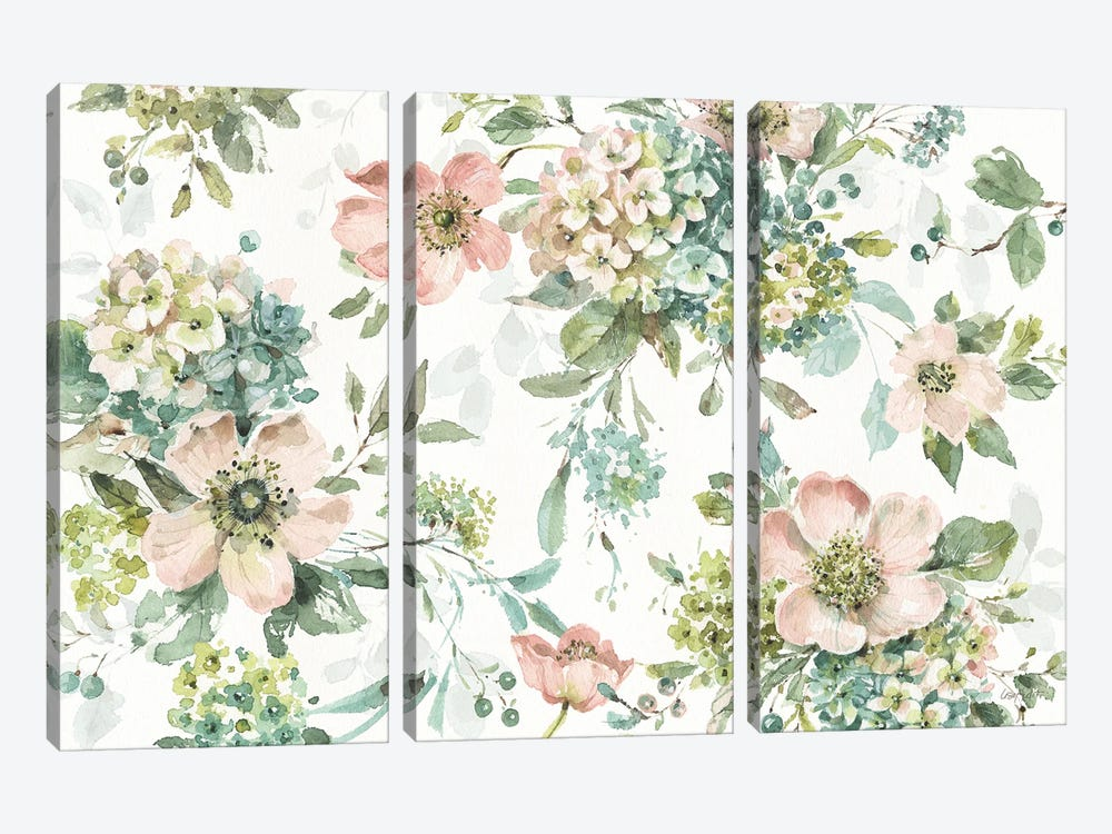 Mint Crush XII On White by Lisa Audit 3-piece Canvas Artwork
