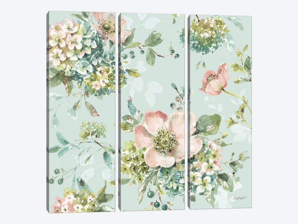 Mint Crush XIII On Mint by Lisa Audit 3-piece Canvas Print