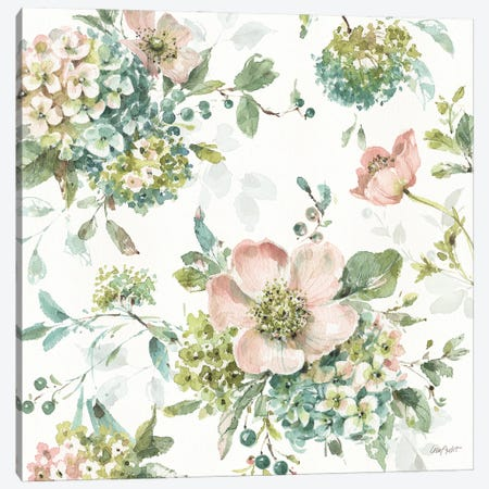 Mint Crush XIII On White Canvas Print #UDI340} by Lisa Audit Canvas Wall Art
