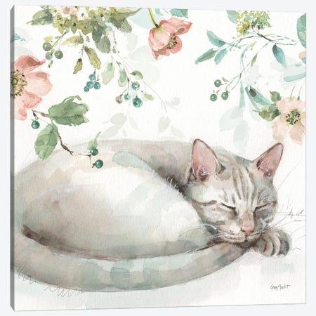 Mint Crush XV On White Square Canvas Print #UDI346} by Lisa Audit Canvas Art Print