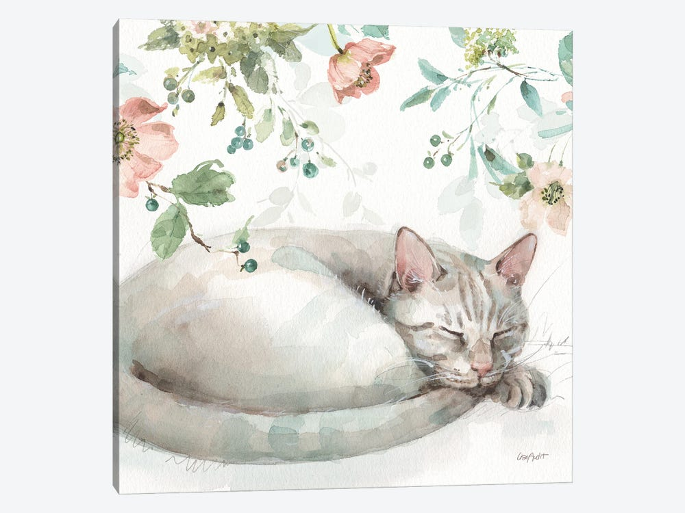 Mint Crush XV On White Square by Lisa Audit 1-piece Canvas Art Print