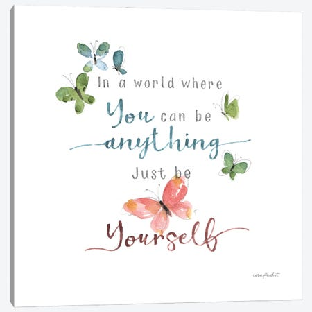 Be Yourself Canvas Print #UDI348} by Lisa Audit Canvas Artwork