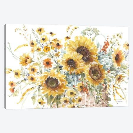 Sunflowers Forever I Canvas Print #UDI363} by Lisa Audit Canvas Art