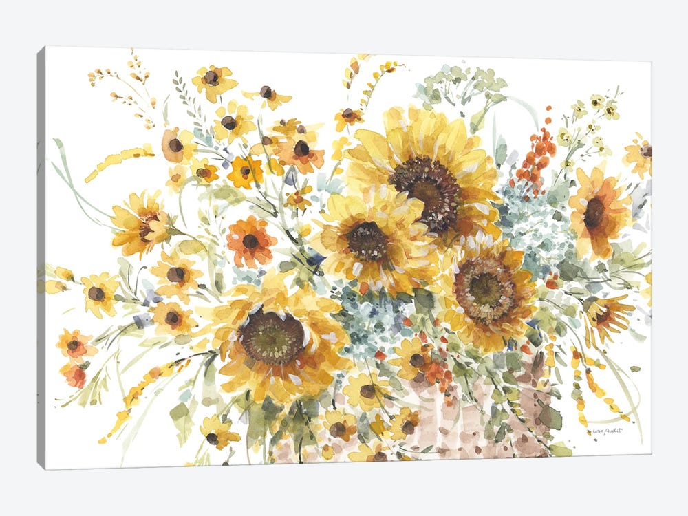 Sunflowers Forever I by Lisa Audit 1-piece Canvas Art