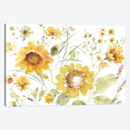 Sunflowers Forever III Canvas Print #UDI365} by Lisa Audit Art Print