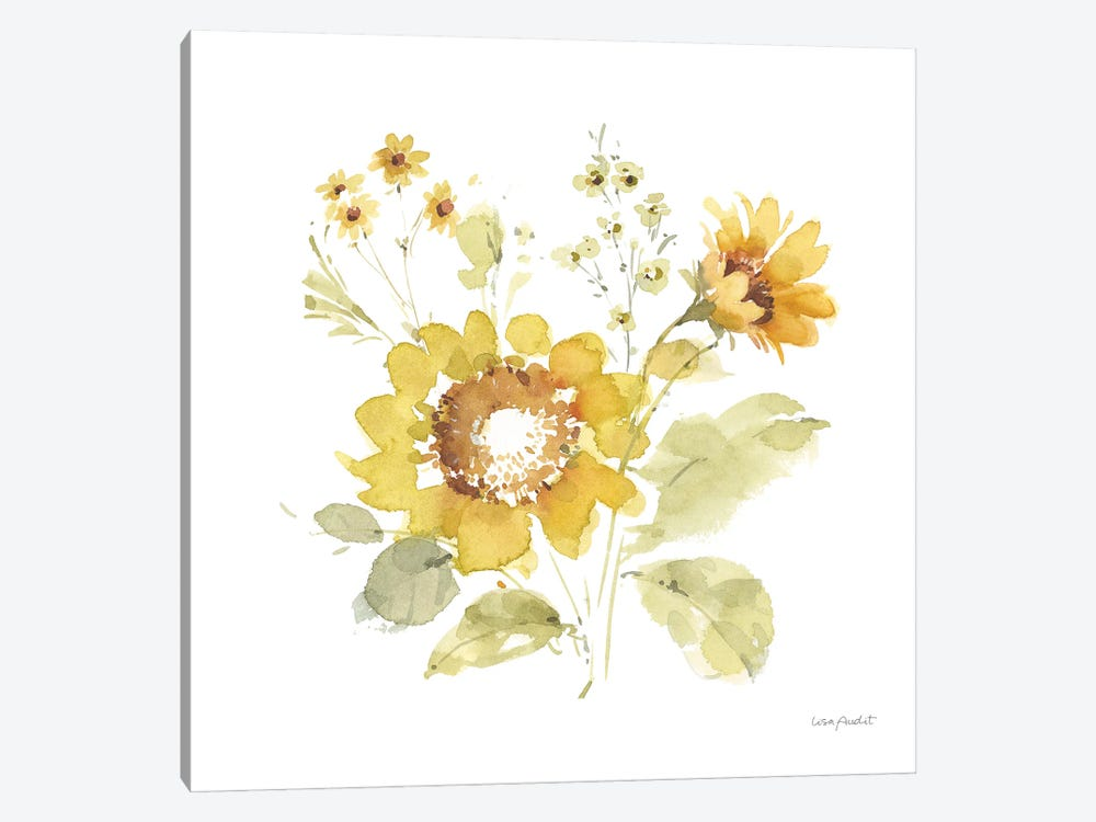 Sunflowers Forever VI by Lisa Audit 1-piece Canvas Print