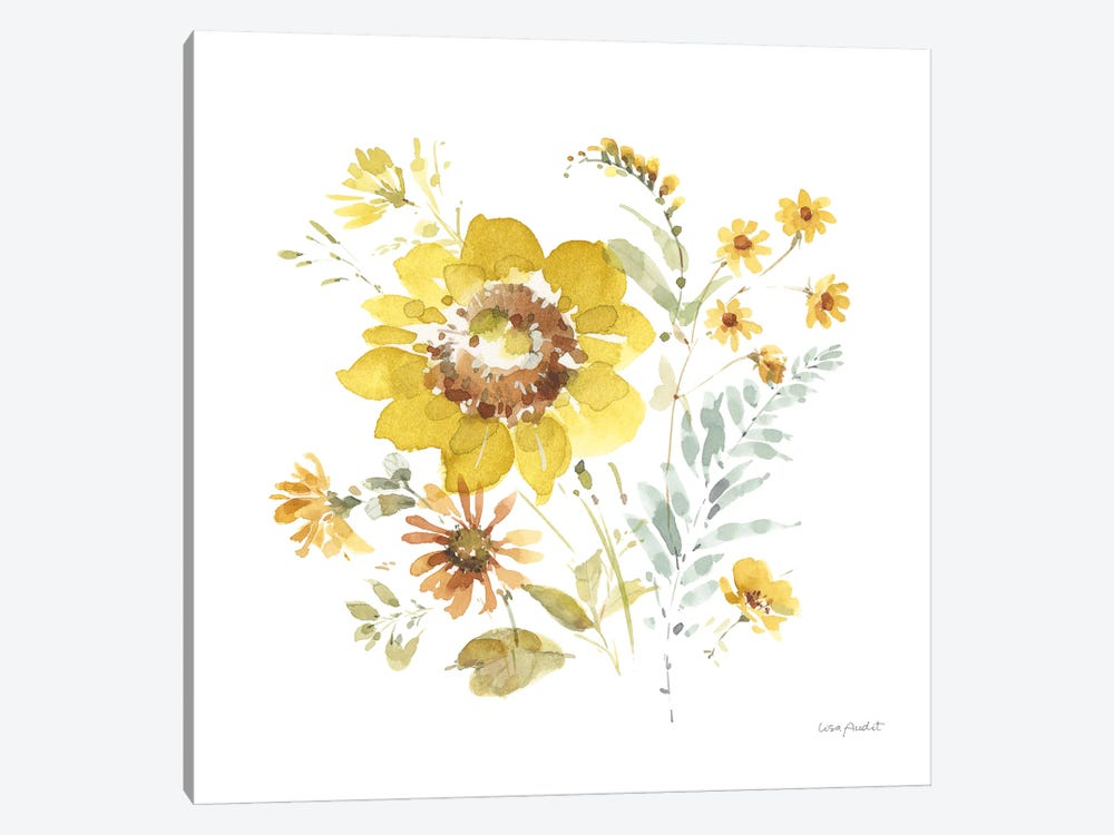 Sunflowers Forever VIII by Lisa Audit 1-piece Canvas Artwork