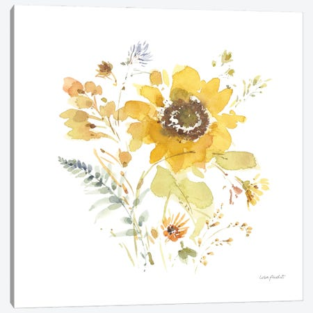 Sunflowers Forever IX Canvas Print #UDI371} by Lisa Audit Art Print