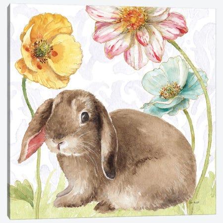 Spring Softies Bunnies III Purple Canvas Print #UDI39} by Lisa Audit Canvas Artwork