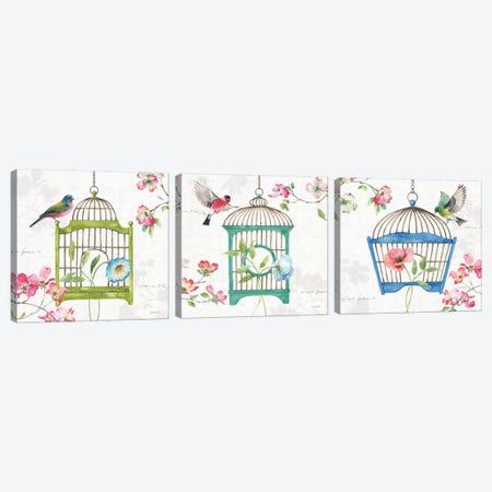 Dogwood Garden Triptych Canvas Print Set #UDI3HSET001} by Lisa Audit Canvas Print